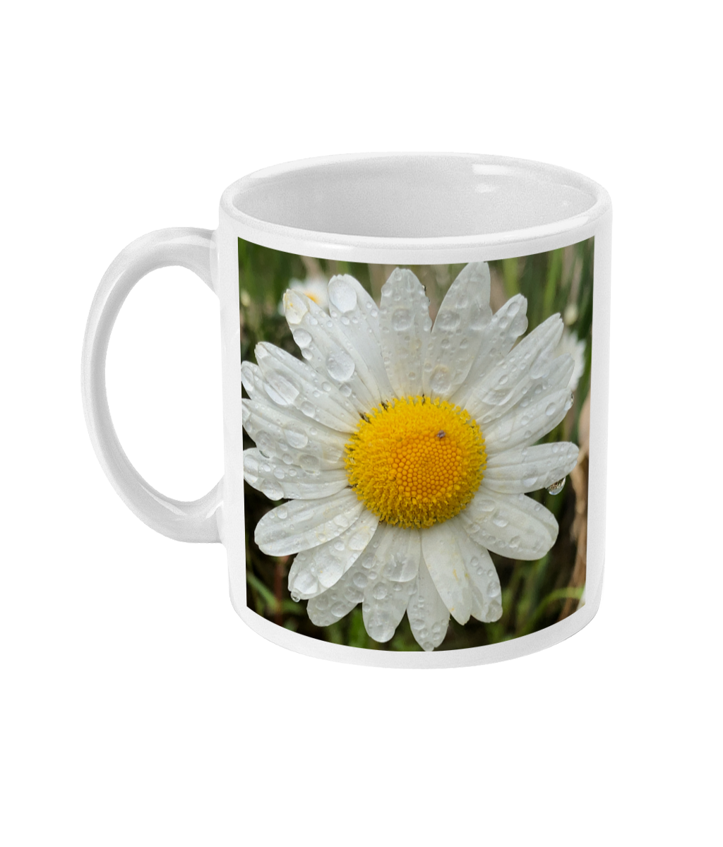 """After the Rain"" Daisy  Double Flower Mug - Nature of Flowers"