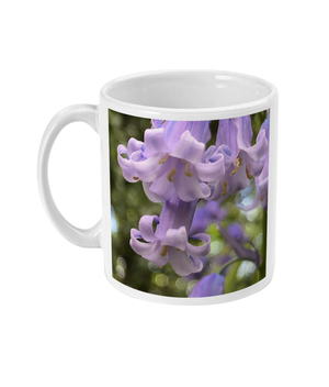 "Open image in slideshow, ""Working Together"" Blue Bell Double Flower Mug - Nature of Flowers"