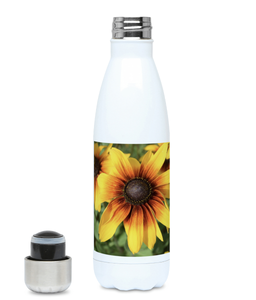 """Bursting with colour"" Yellow Flower 500ml Water Bottle - Nature of Flowers"