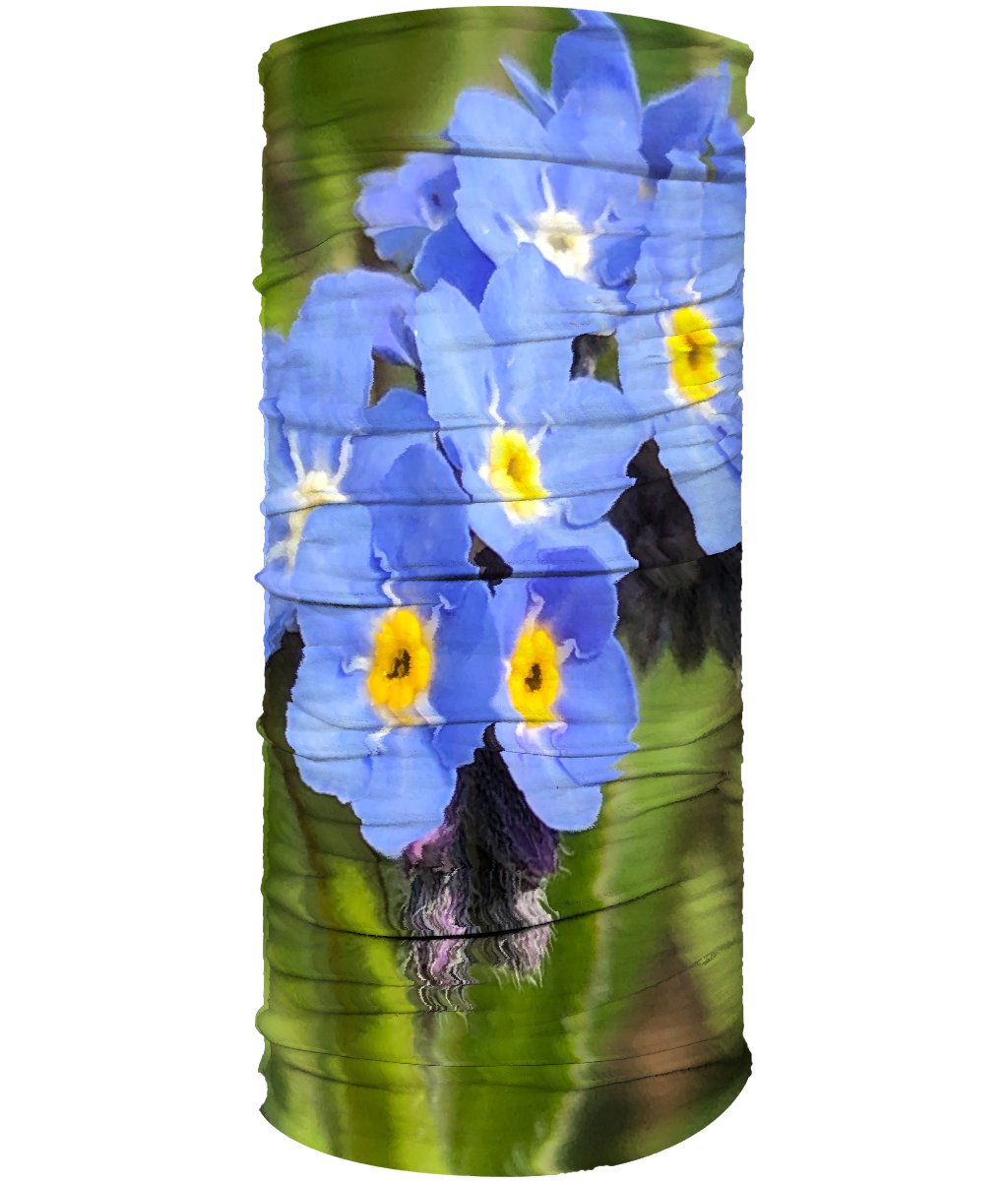 Blue Forget Me Nots Flower Neck Gaiter (Double Sided) - Nature of Flowers