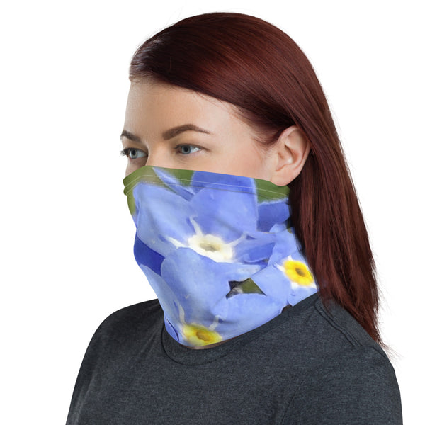 Neck Gaiter Blue Forget Me Not Flower - Nature of Flowers