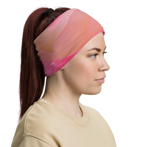 Pink Flower Neck Gaiter - Nature of Flowers