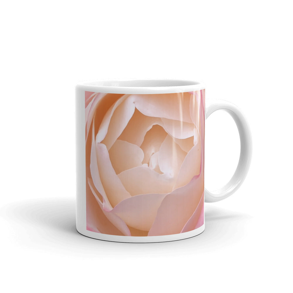"""Deep inside the mellowness""  Pink Rose Flower Glossy Mug - Nature of Flowers"