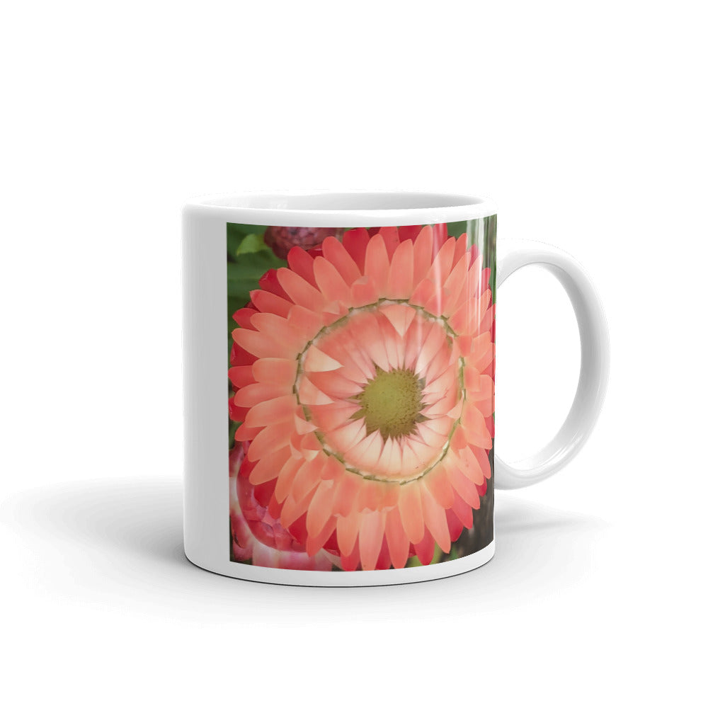 """Completing the circle inside the circle"" Pink Flower Glossy Mug - Nature of Flowers"