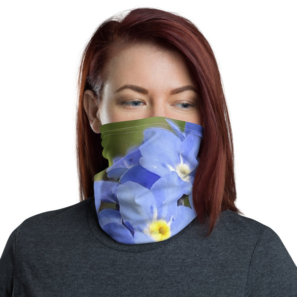 Blue Forget Me Not Flower Neck Gaiter - Nature of Flowers
