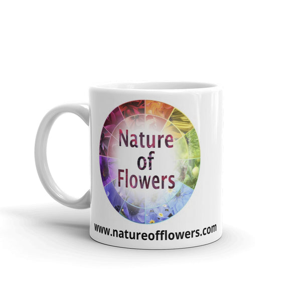 """Open For Business"" Pink Dahlia Flower Glossy Mug - Nature of Flowers"