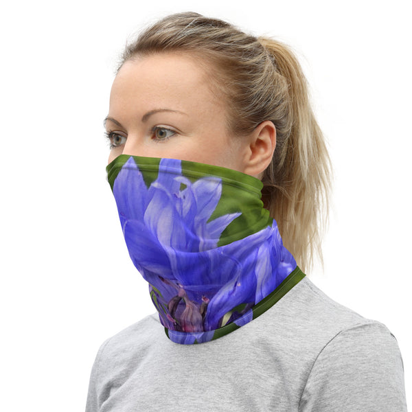Blue Cornflower Neck Gaiter - Nature of Flowers