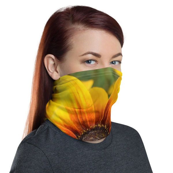 Yellow Flower Neck Gaiter - Nature of Flowers