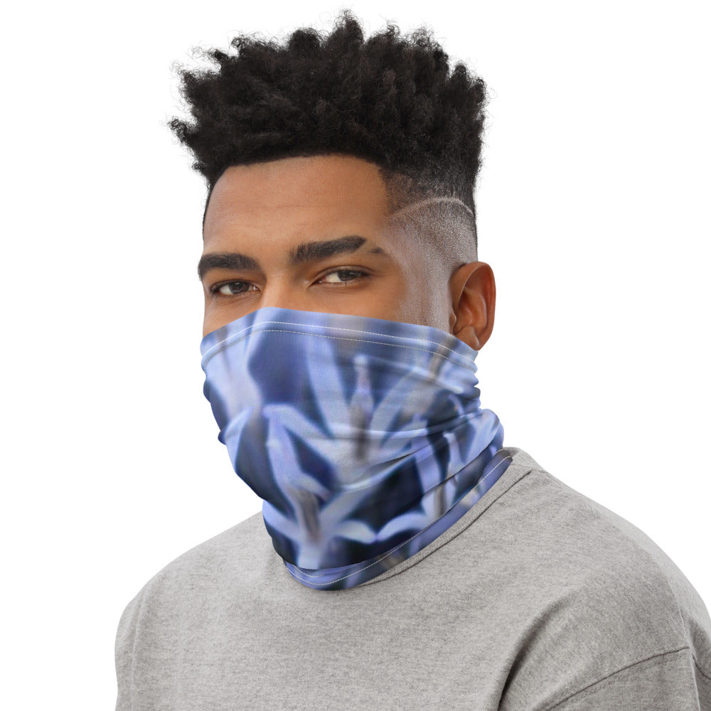 Blue Globe Flower Neck Gaiter - Nature of Flowers