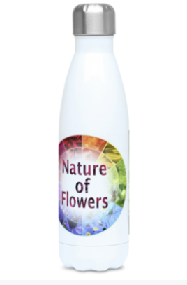 """The Blue Maze Circle"" Blue Flower 500ml Water Bottle - Nature of Flowers"