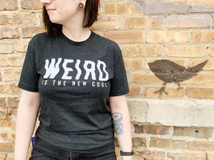 "Vintage Black ""Weird is the New Cool"" Tee Shirt"