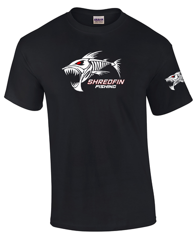 ShredFin Black Short Sleeve T-Shirt