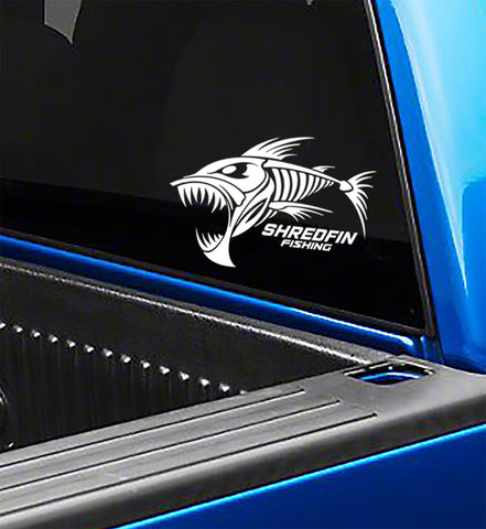 ShredFin Die Cut Window Decal