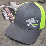 ShredFin Charcoal Gray & Neon Yellow FLEXFIT Hat