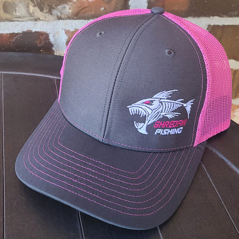ShredFin Charcoal Gray & Neon Pink Hat