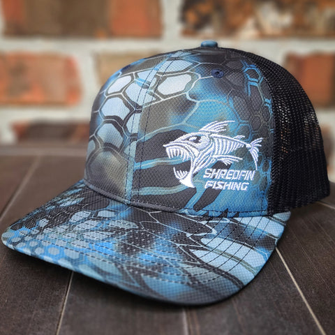 ShredFin Blue Kryptek Camo Hat