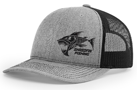 ShredFin Heather Gray & Black Snapback Hat