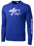 ShredFin Royal Blue Long Sleeve DriFit