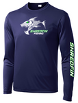 ShredFin Navy Blue Long Sleeve DriFit