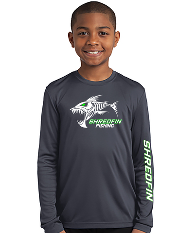 Kids ShredFin Long Sleeve DriFit (THIS IS A YOUTH SHIRT)