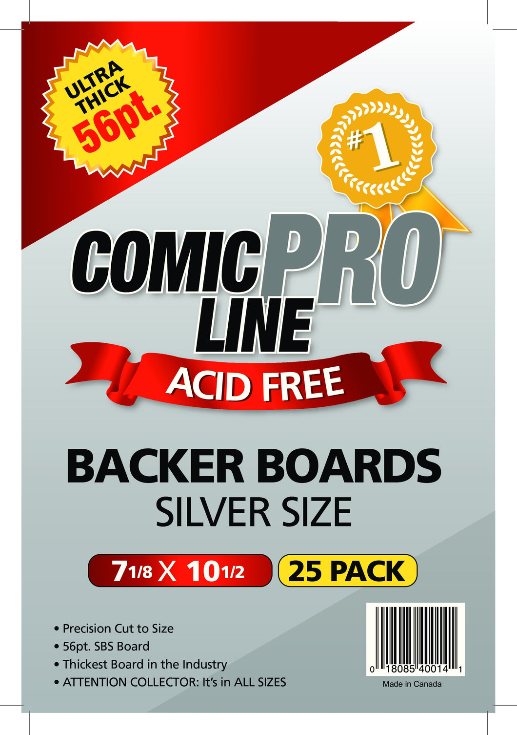 Ultra Thick PRO 56pt Backer Boards - Silver Size (50pk)