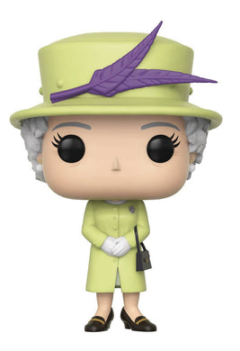 POP ROYAL FAMILY QUEEN ELIZABETH II YELLOW VINYL FIGURE