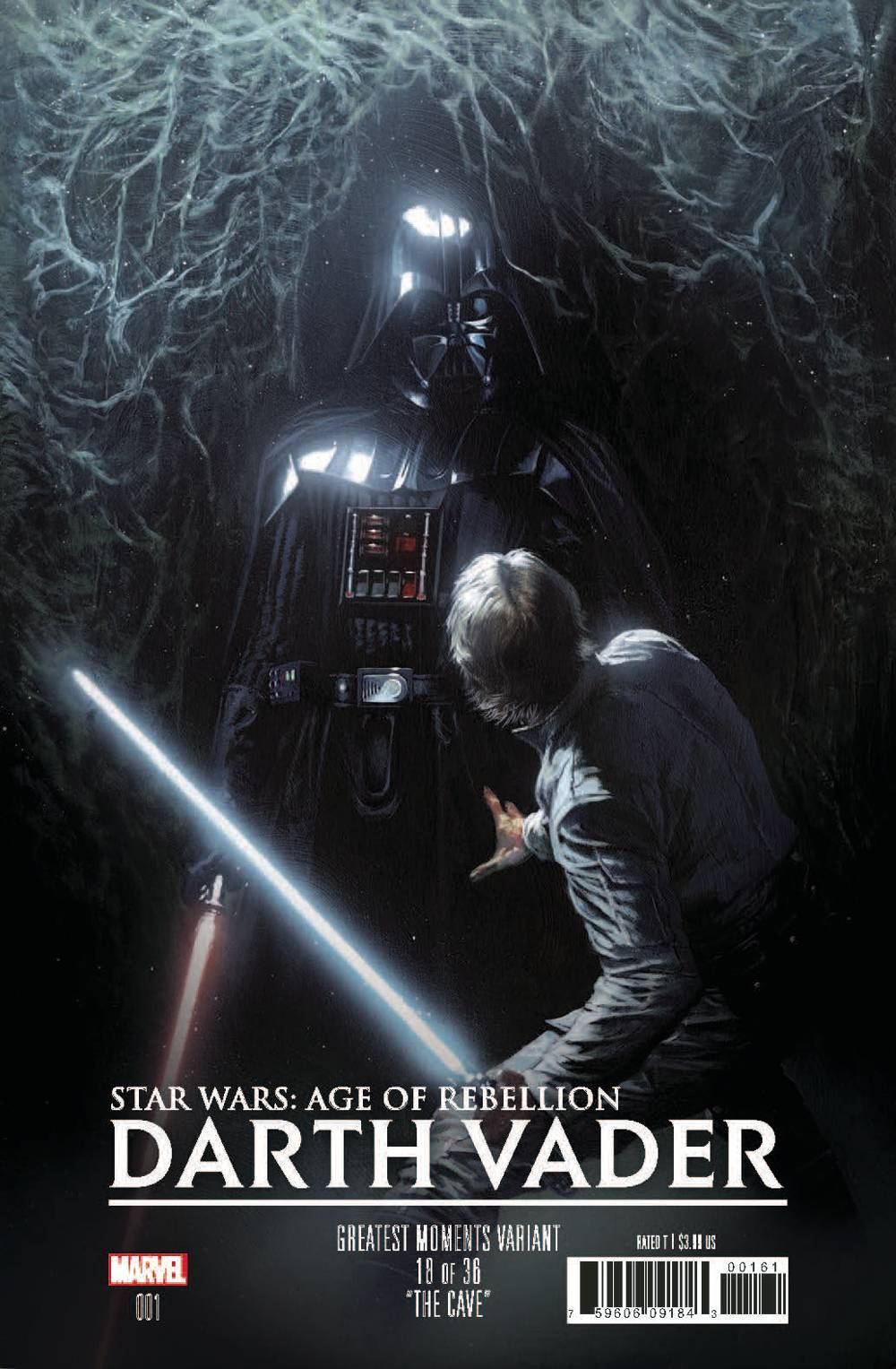 STAR WARS AOR DARTH VADER #1 DELLOTTO GREATEST MOMENTS VAR