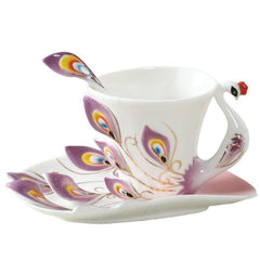 Peacock Ceramic Creative Coffee Cup