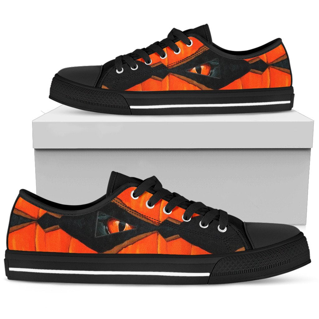 Women's Low Top Shoes - Cat & Pumpkin