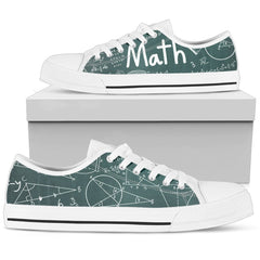 Low Top Shoes - I love Math CTM230301 - gopowear.com