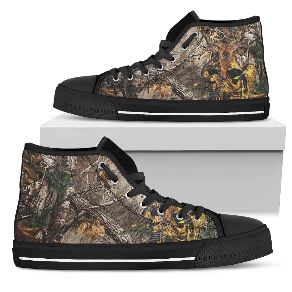 Men's High Top Shoes - Hunting Tattoo