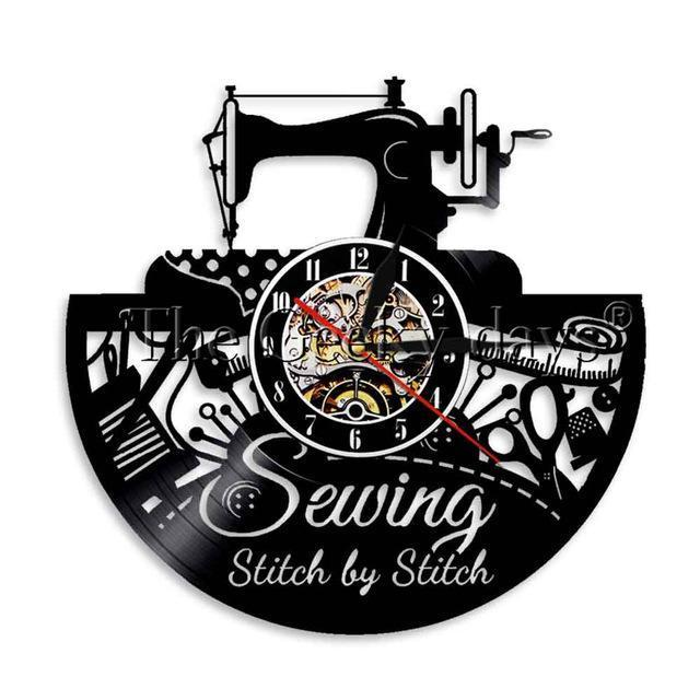 Sewing Vinyl Wall Clock