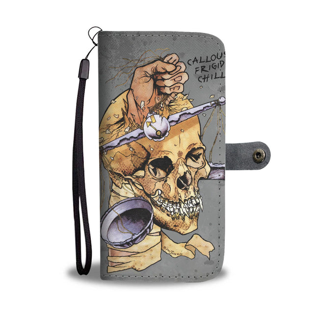 Halloween Skull On Wallet Case
