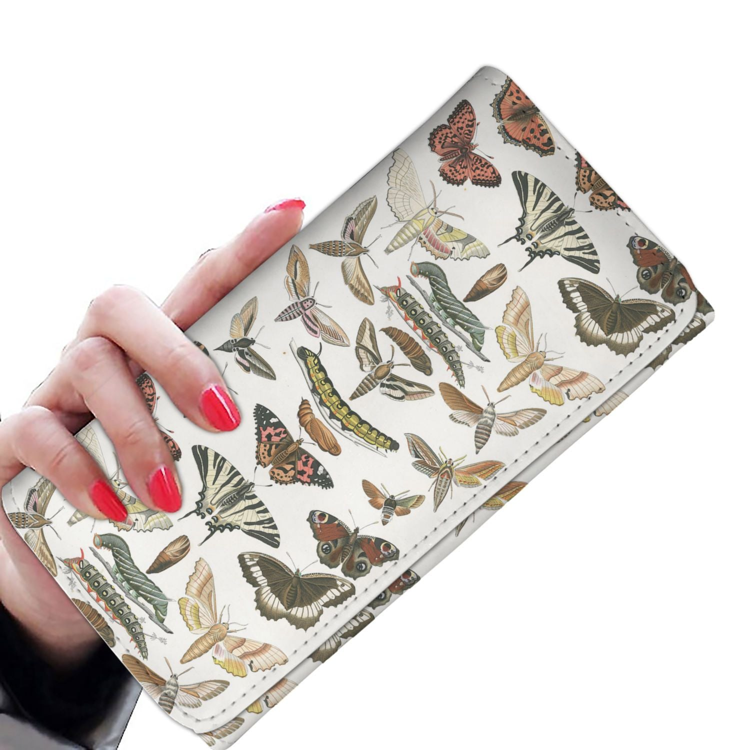Women Wallet Butterfly & Moth