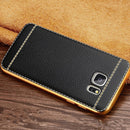 Bumper Leather Skin Soft TPU Case For Samsung - gopowear.com