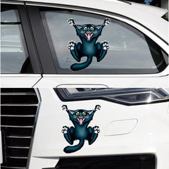 3D Crazy Cat Car Stickers - gopowear.com