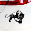 19.5*13.6CM Fiery Wild Panther Hunting Car Body Decal Stickers