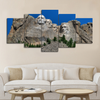 5-piece Mount Rushmore printed Canvas Wall Art