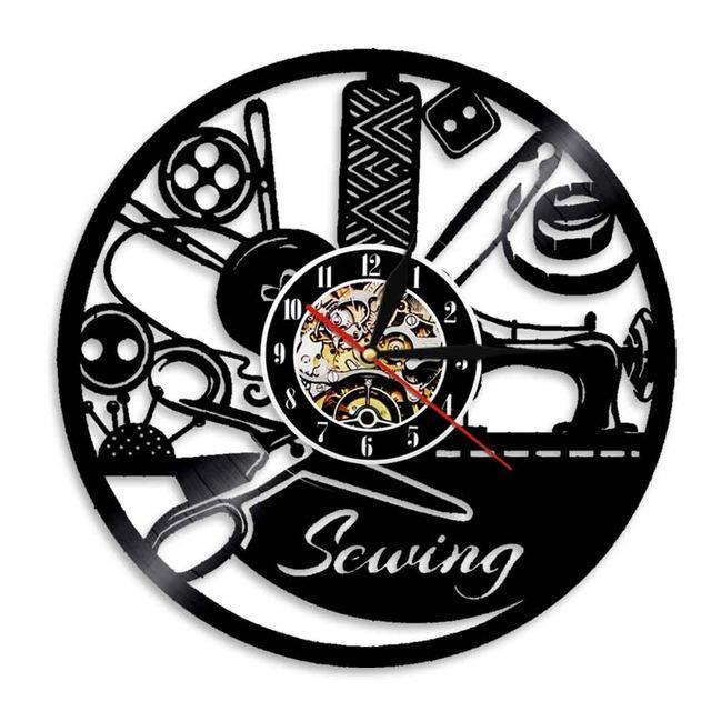 I Love Sewing Vinyl Wall Clock