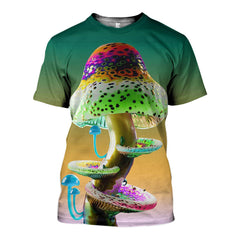 3D All Over Printed Champignons Shirts and Shorts