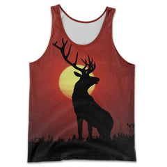 3D All Over Printed Deer Art Shirts and Shorts