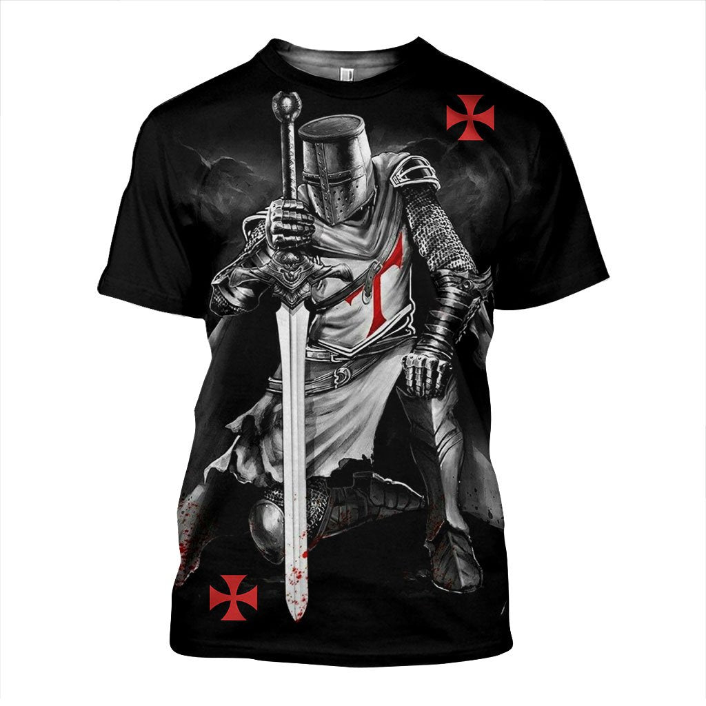 3D All Over Printed Knights Templar Shirts and Shorts