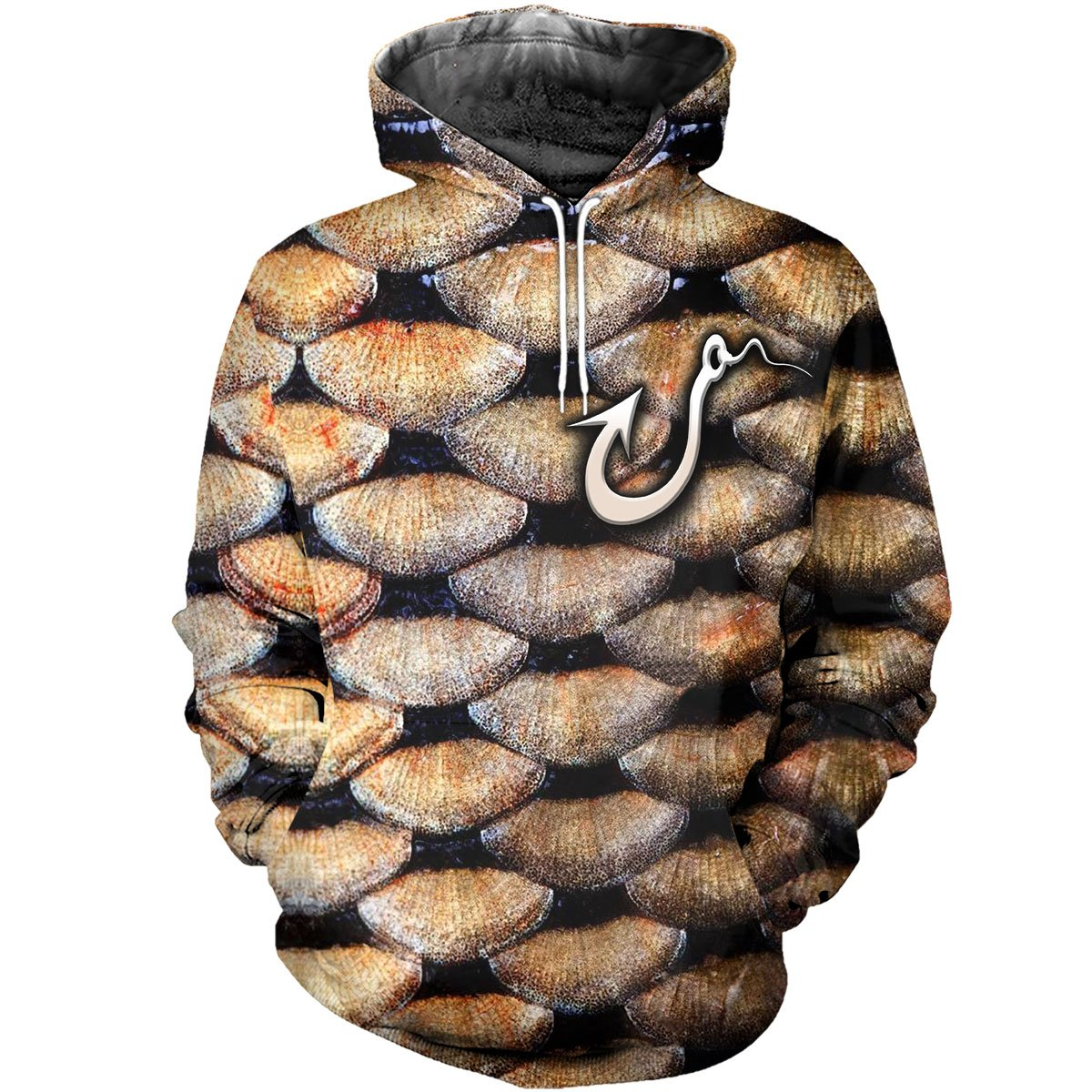 3D All Over Printed Gold Carp Scales Shirts and Shorts