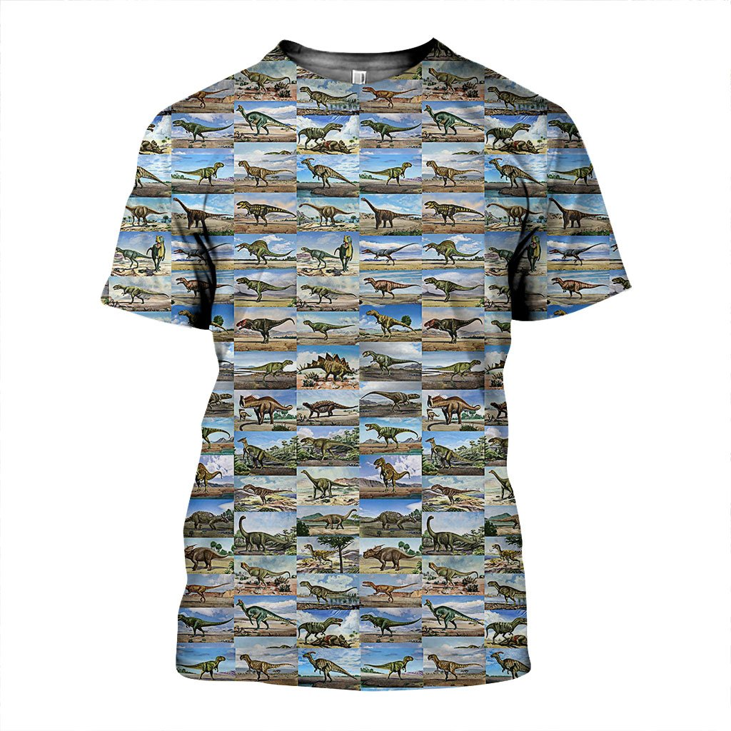 3D All Over Printed Dinosaur Shirts and Shorts