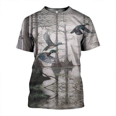 3D All Over Printed Duck Art Shirts and Shorts
