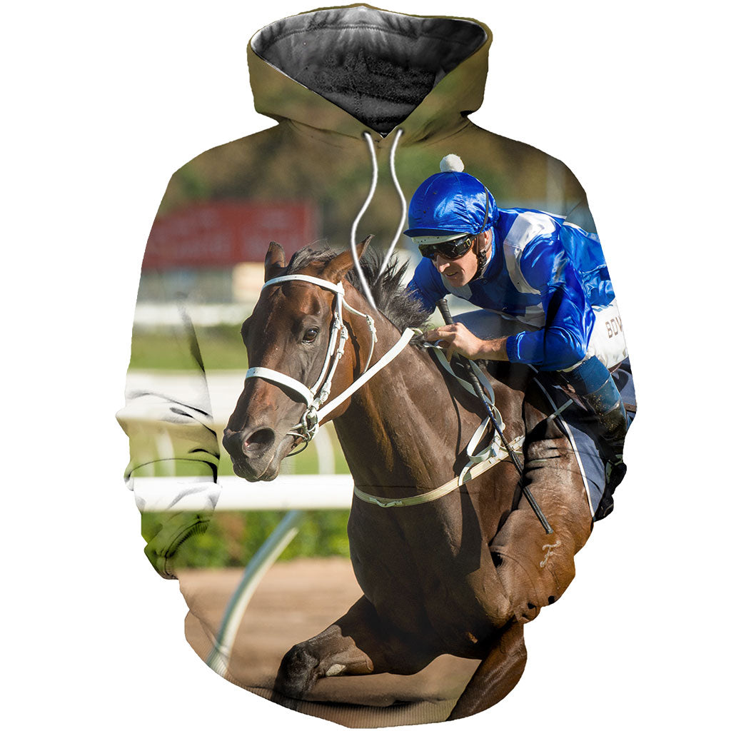 3D All Over Printed Winx Racing Horse Shirts and Shorts
