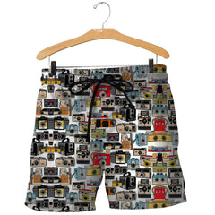 3D All Over Printed Cameras Shirts and Shorts