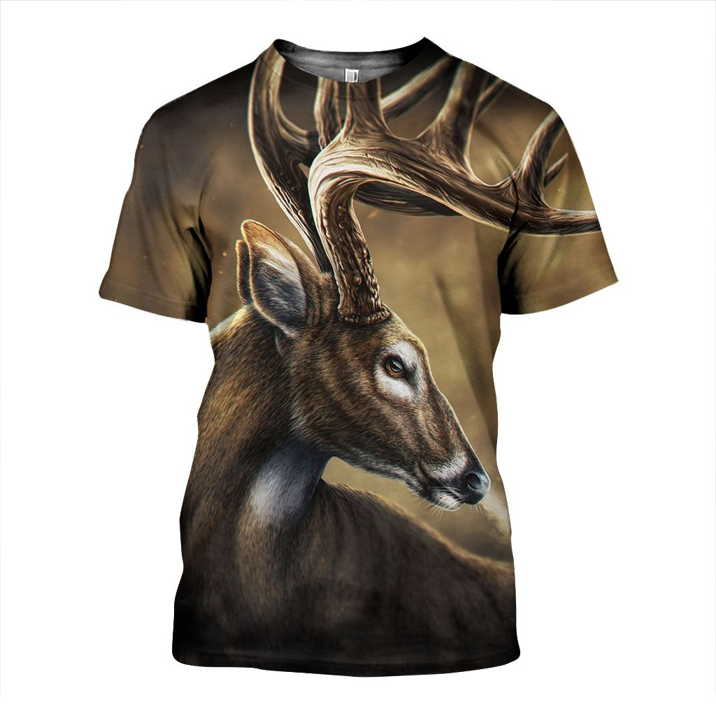 3D All Over Printed Deer Shirts and Shorts ZTOH141105