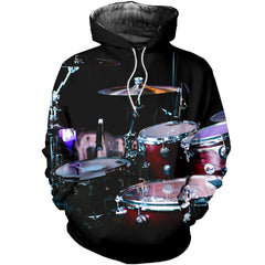3D All Over Printed Drum Set Shirts And Shorts