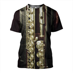 3D All Over Printed Flute In Box Shirts and Shorts